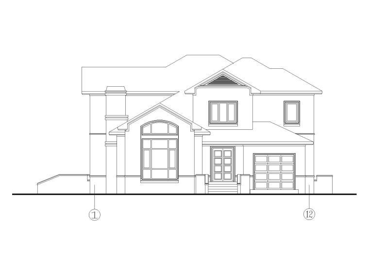 30套二层别墅建筑施工图(CAD)