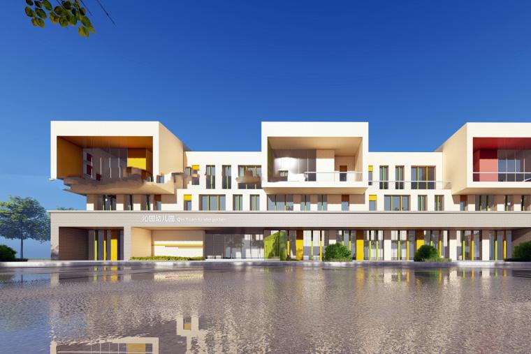 沁园幼儿园建筑模型设计(2018年)