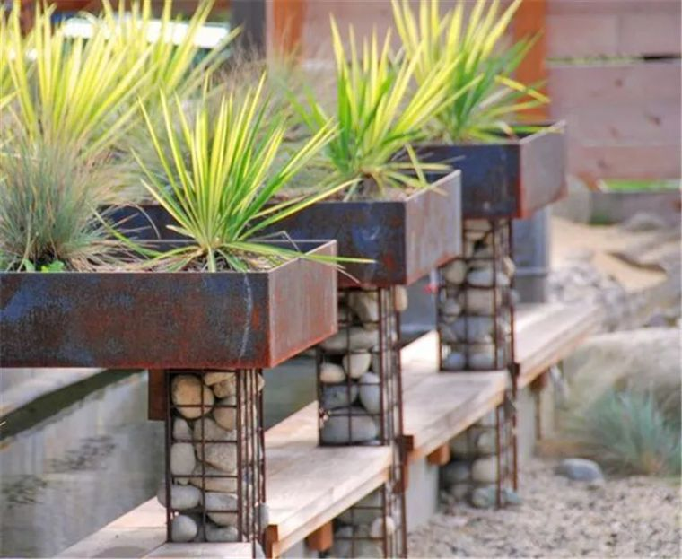 景观最佳CP之石笼与植物!_35