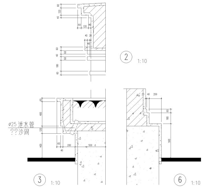 居住区景观,小区围墙CAD施工图