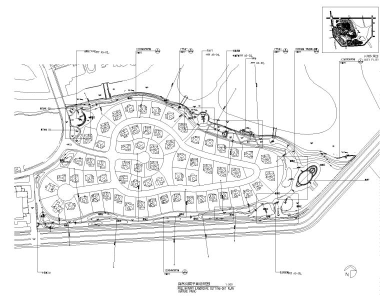 [上海]松江新城英国小镇风情全套景观施工图(含:滨水公园景观)