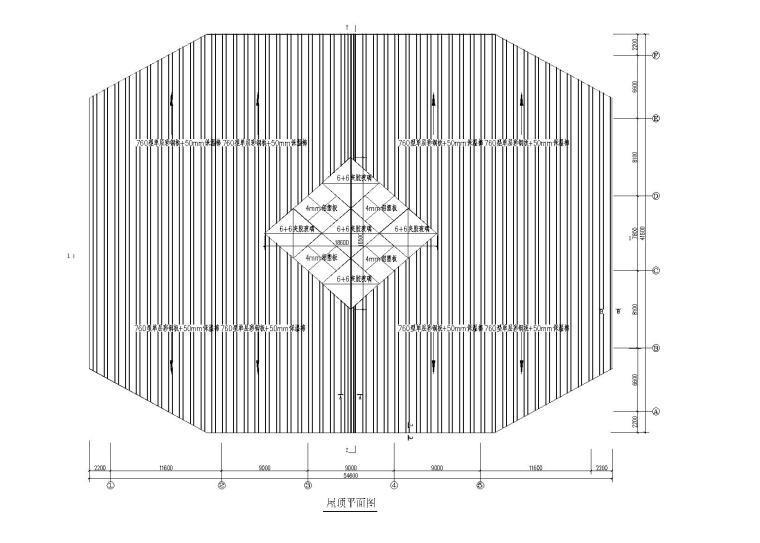 [四川]网架结构风雨球场建筑施工图