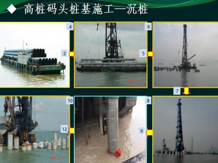 高桩码头桩基施工沉桩