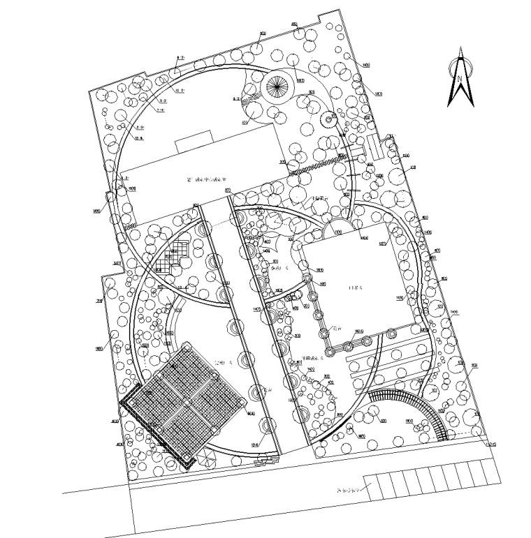 中式老年人公园CAD施工图