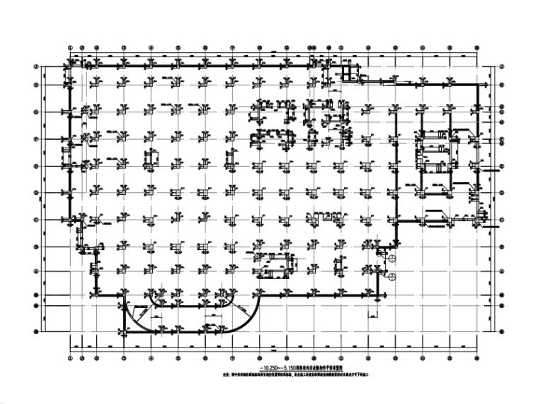 [广州]医院门诊综合楼地下结构工程施工图