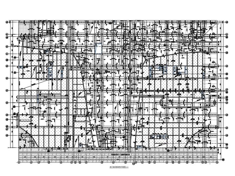 [上海]港城广场建设项目地下室结构施工图(2016)