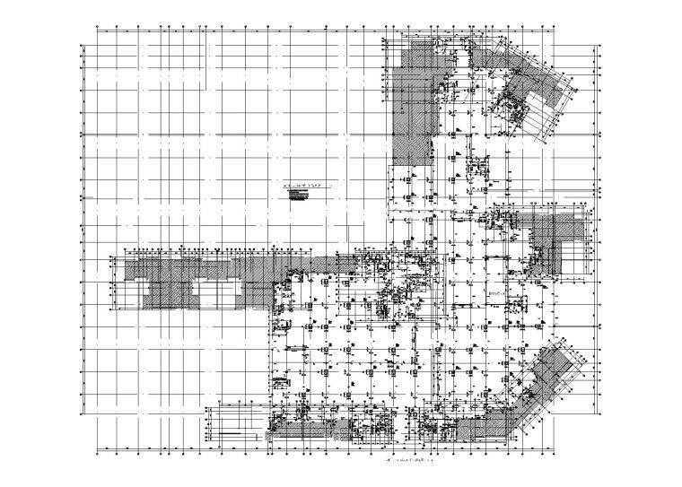 住宅小区地下室人防工程结构施工图2017