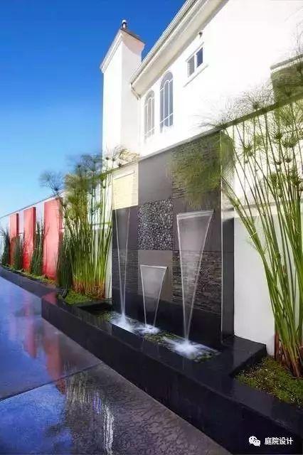做一面水景墙,让它成为院子里最灵动的景观