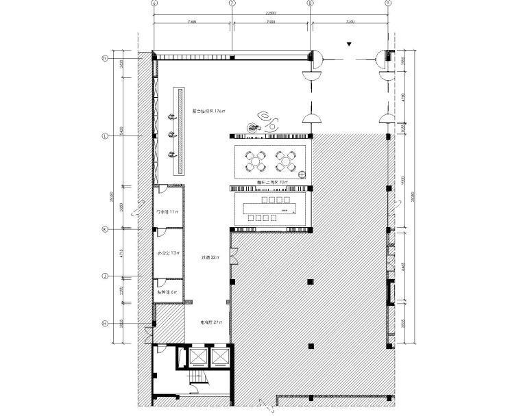 上海虹桥吴中路全季酒店公区CAD施工图+效果图+材料表