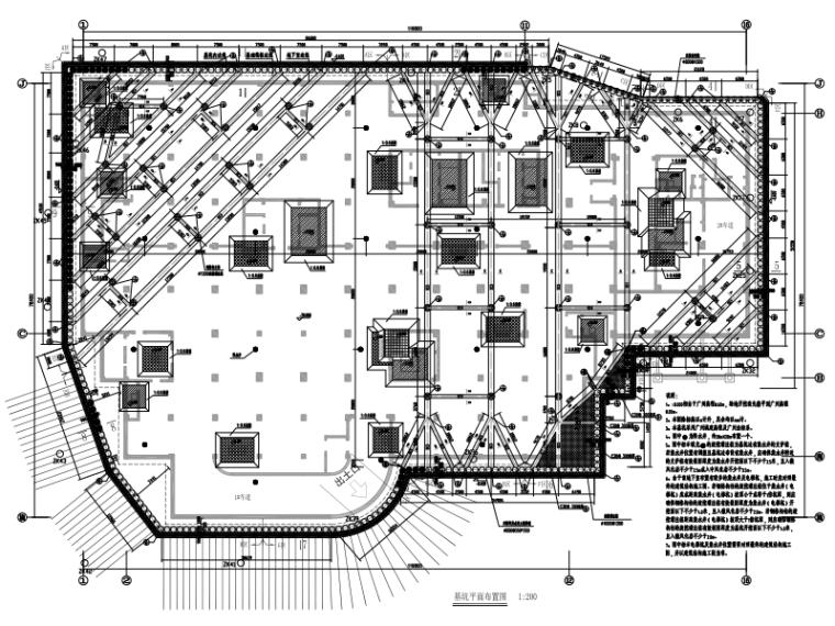 [广州]门诊综合楼地下基坑支护工程施工图(2013)