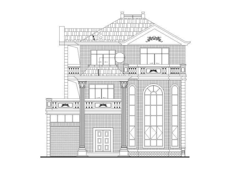 现代风格3层独栋别墅建筑施工图