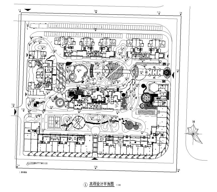 [广州]花都龙珠苑居住区全套景观设计CAD施工图
