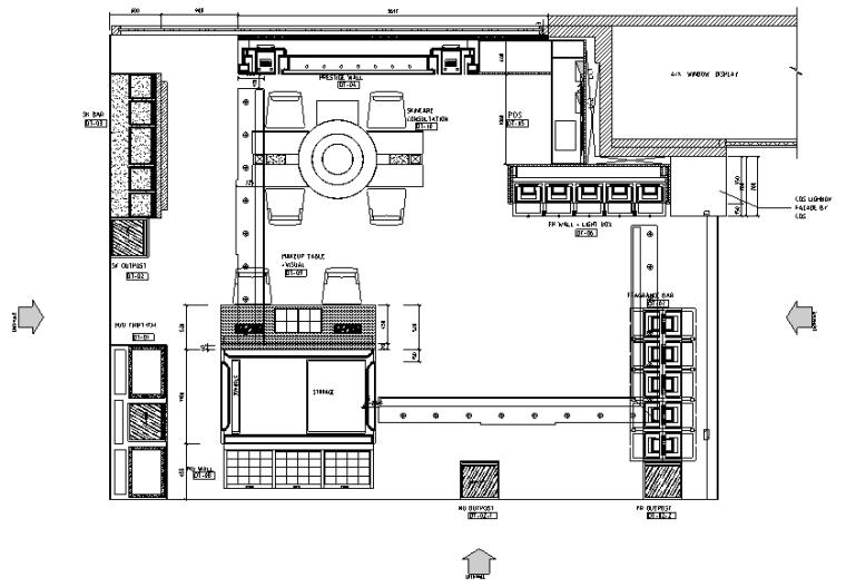 [泰国]普吉岛尚泰普吉购物中心Dior迪奥化妆品专柜丨效果图+施工图+家具深化图+实景图