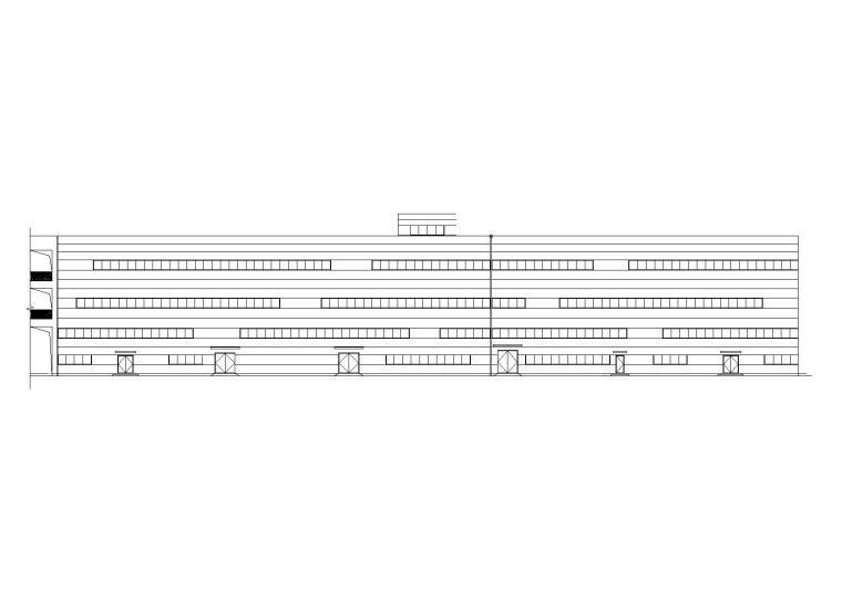 三层钢筋混凝土工业厂房全套施工图设计(CAD)