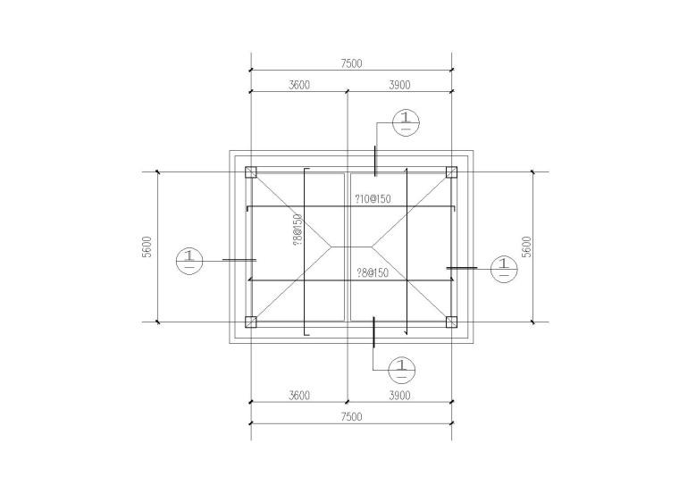 香樟森林公园公共卫生间结构施工图(2016)