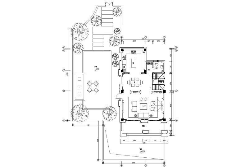 [江苏]帝凯徐树仁-淮安别墅08下叠样板房官方摄影+CAD全套施工图