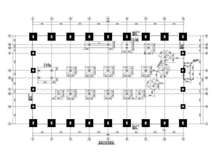 门式刚架车间改钢框架办公楼施工图2014