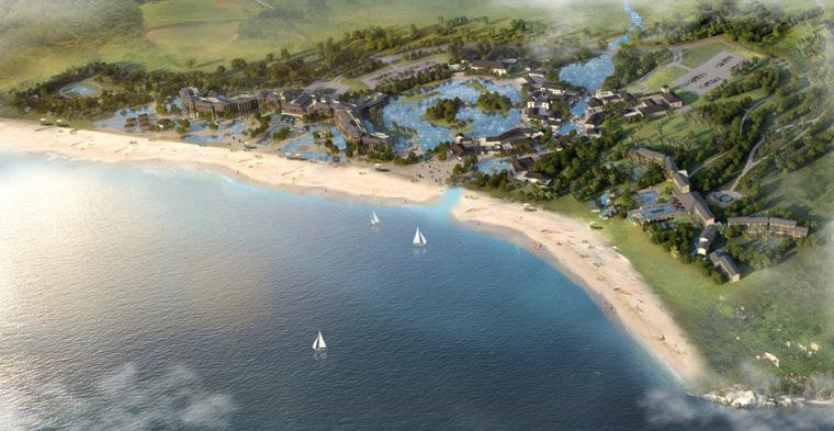 滨海公园海边沙滩景观设计案例效果图