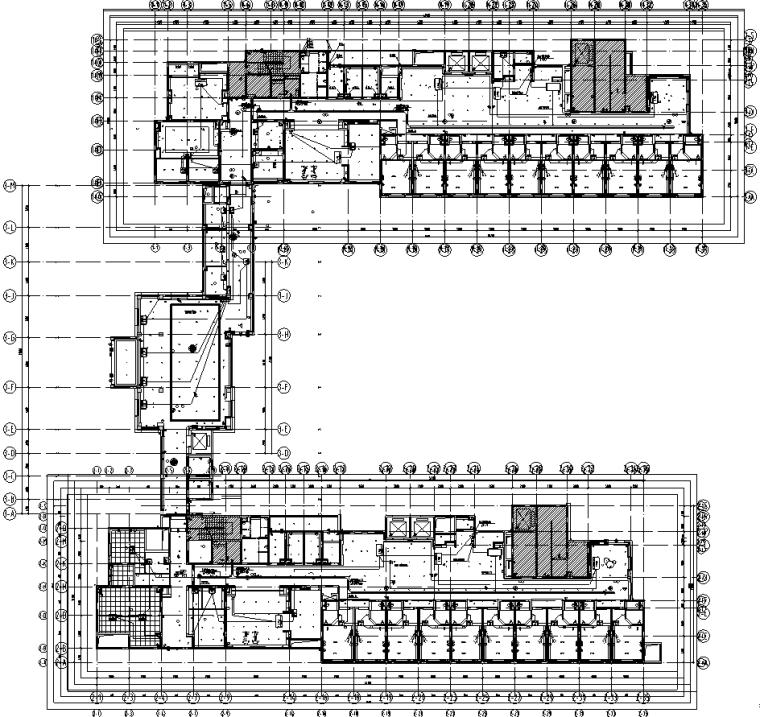 上海老年养老公寓及配套门诊机电设备&室内装修施工图