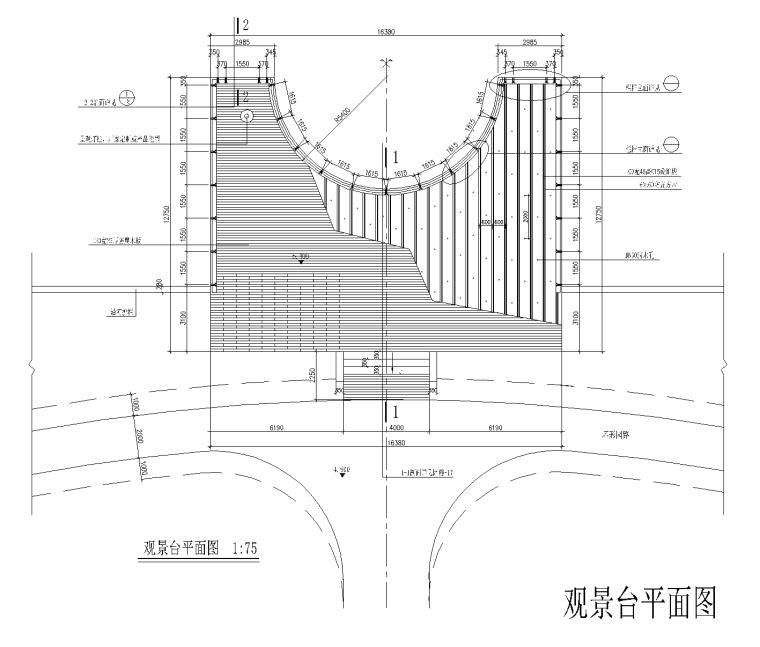 37套景观栈台平台CAD施工图(观景平台)