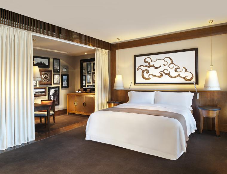 [西藏]拉萨瑞吉度假酒店装修施工图+实景图-The St. Regis Lhasa Resort—Deluxe Room