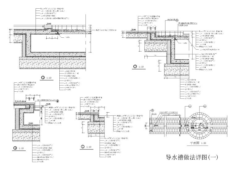 21套溪流水池CAD施工图