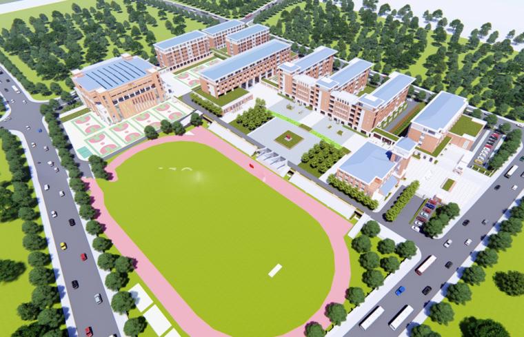 [湖南]长沙高新区金南中学建设方案模型设计(2018年)