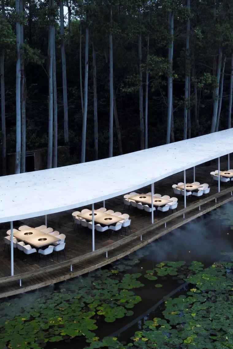 匿于林间,史上最静谧,最柔美的火锅餐厅|MUDA慕达建筑