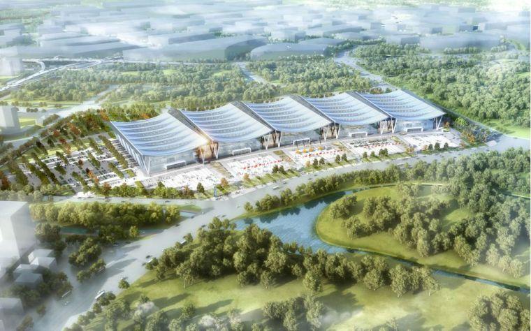 [行业案例]赣州绿地国际会展中心结构初探