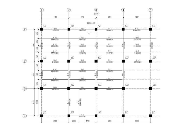 钢框架办公楼改造工程结构施工图(2015,第一版)