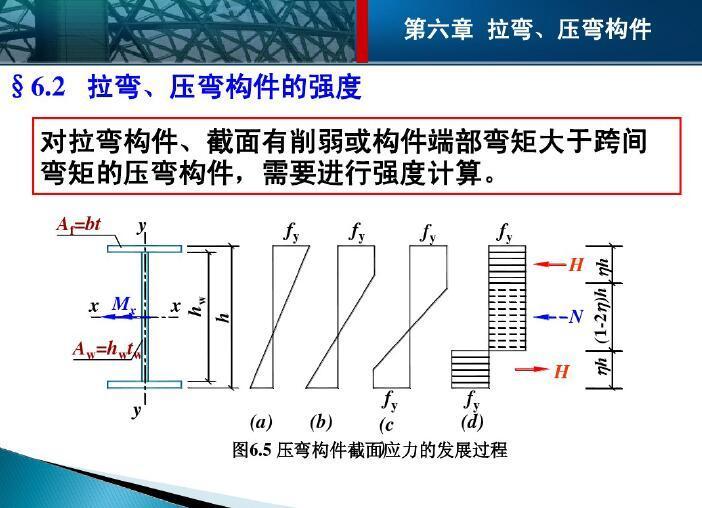 钢结构设计原理---拉弯、压弯构件