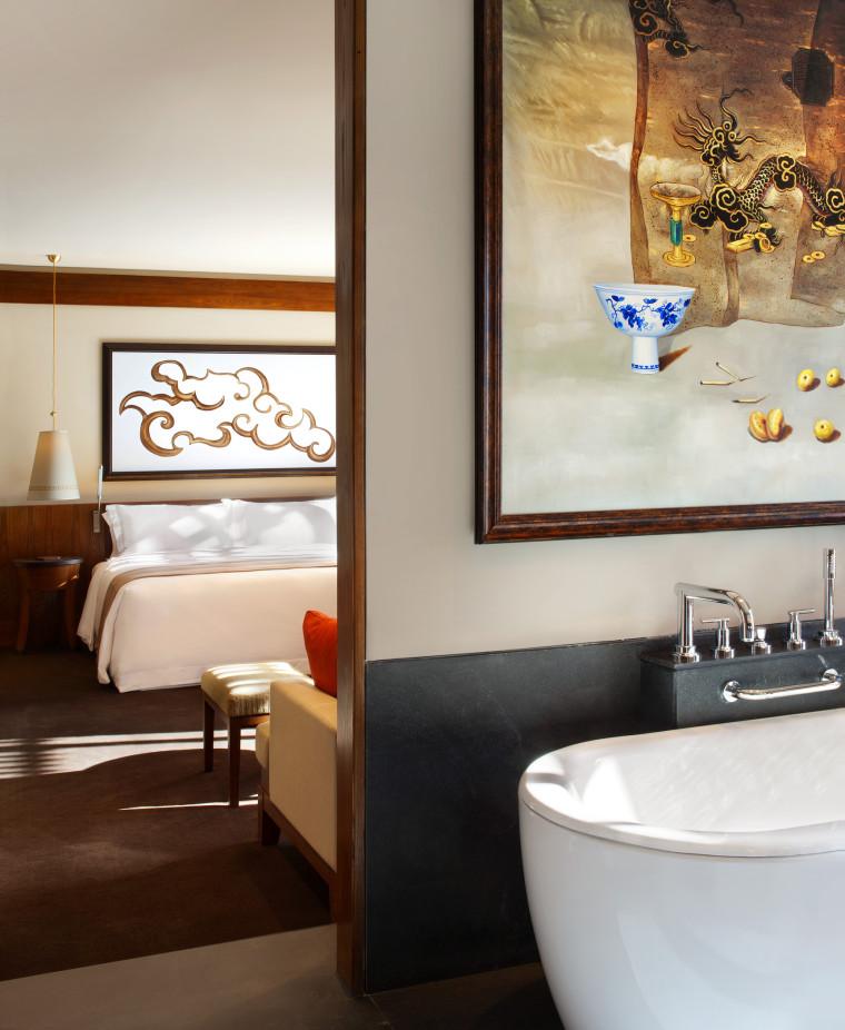 [西藏]拉萨瑞吉度假酒店装修施工图+实景图-The St. Regis Lhasa Resort—Deluxe Room 2