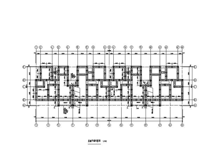 [重庆]3栋6层砖混结构经济适用房结构施工图(2012)