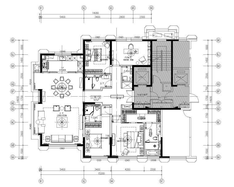 CCD-北京泰禾住宅項目主力户型样板间丨CAD施工图+物料表