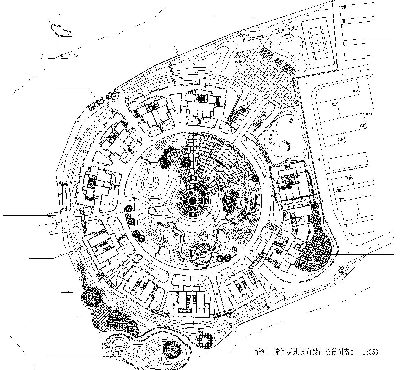 [浙江]温州居住区建筑景观全套CAD施工图(含结构,暖通,效果图)