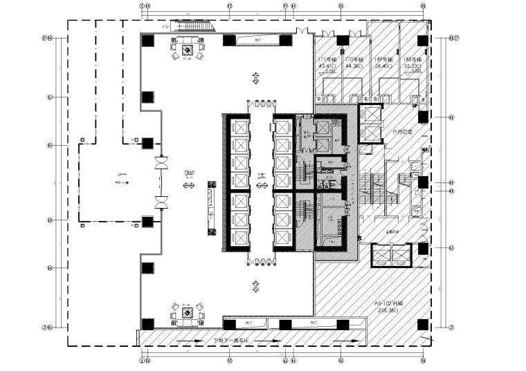 [佛山]万达甲级写字楼两套办公样板间效果图+施工图+机电图+物料表