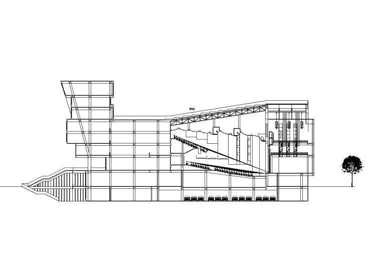 [甘肃]大学生活动中心建筑施工图设计(CAD)