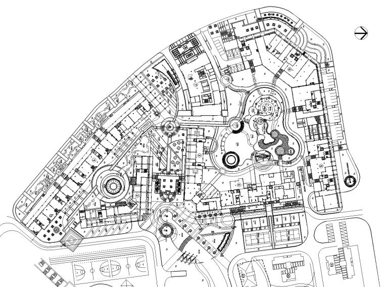 [重庆]光华.阳光水城居住区全套景观设计CAD施工图