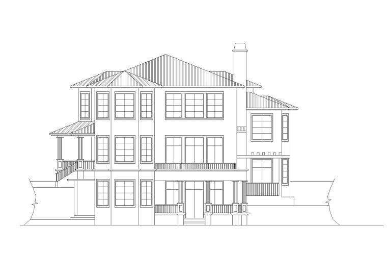 现代风格二层独栋别墅建筑施工图