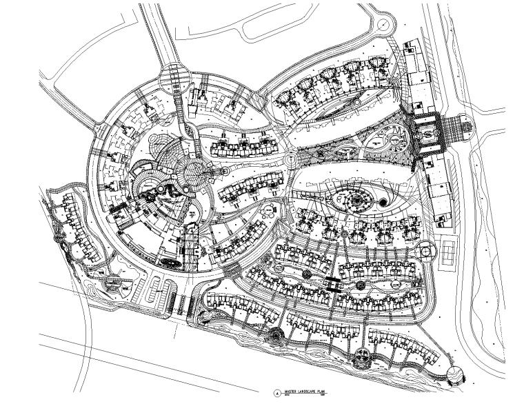 [广州]中海康城欧式花园全套景观设计CAD施工图