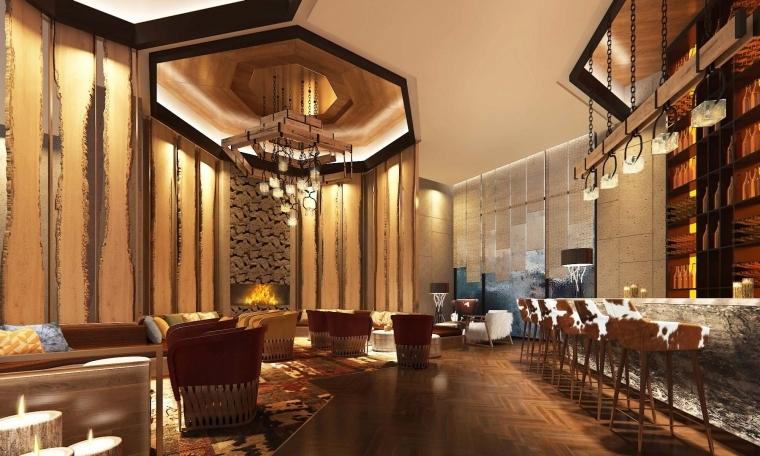 [吉林]KKS-长白山国际温泉度假酒店公区&中餐厅&水疗丨设计方案+艺术品布点图+建筑效果图