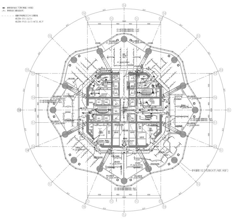 四川成都绿地超高层公共建筑塔楼机电设备施工图
