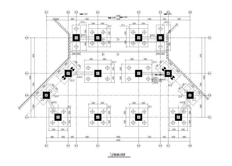 中国国际贸易中心-钢框架游泳池结构施工图(2018)