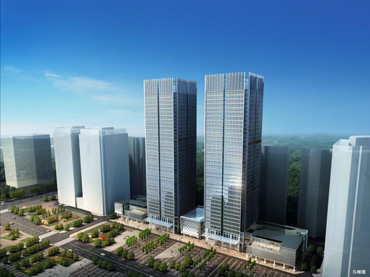 核心筒结构办公楼项目绿色施工汇报PPT(图片丰富)