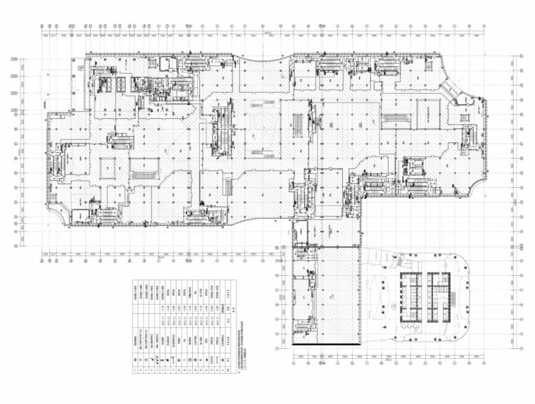 浙江宁波办公塔楼及大型裙房商业电气施工图
