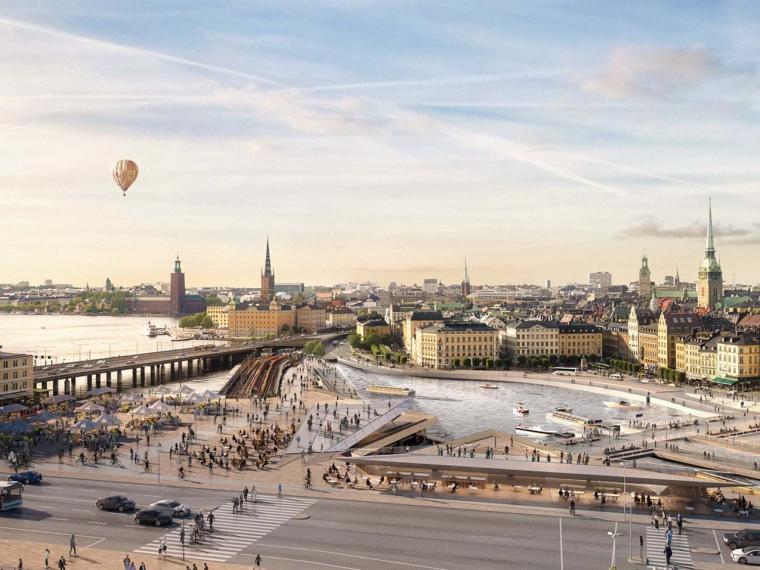 瑞典新的Slussen总体规划