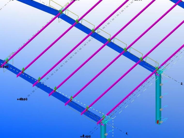 Tekla钢结构BIM软件教程???0-Tekla建模(钢架檩条、檩托板)