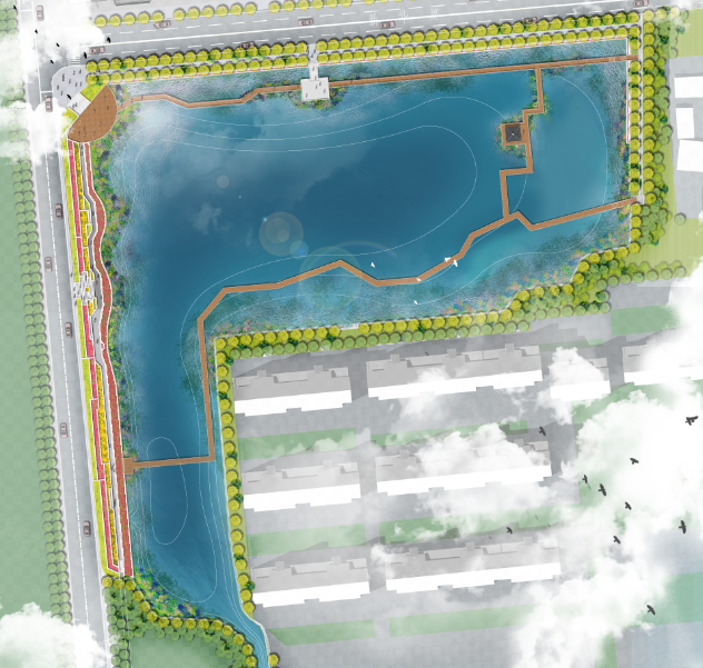 景观ps|小水系平面图psd分层素材