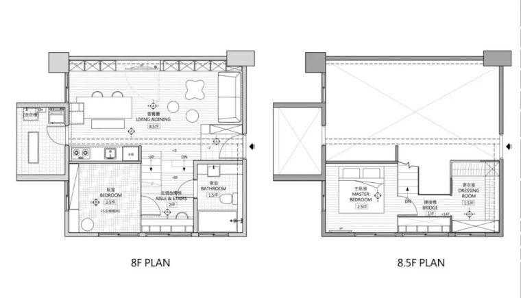 43平loft小户型公寓,休闲、娱乐和工作区划分得一样不落!