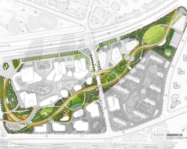 [上海]南站绿轴项目景观方案设计(露天广场,滑板广场,茶社等)附:CAD图纸,SU模型_5